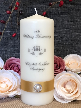 50th Anniversary Candle-