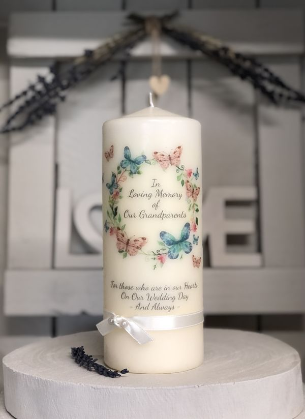Butterfly Wreath Remembrance Candle-