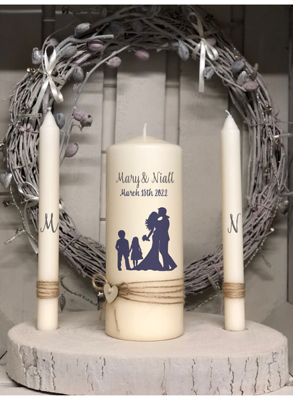 Bride, Groom, Little Boy and Girl Unity Set-Family unity set, family candles, family