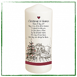 Christmas In Heaven Remembrance Candle-
