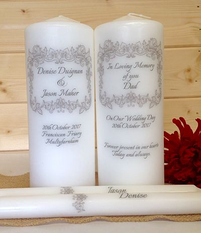 Square Border Unity Set & Remembrance Candle-