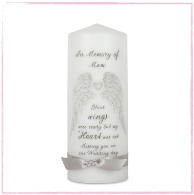 Angel Wings Remembrance Candle