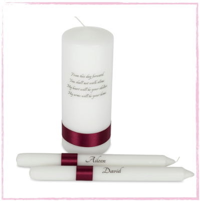 Classic Unity Candle Set-Personalised Classic Unity Candle Set Traditional Wedding Candles Ireland UK Family unity set, additional candles, family of five candle set, Candle Lighting Ceremony.