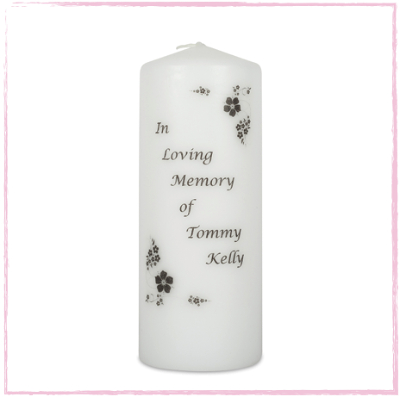 Floral Border Remembrance-Remembrance, memorial candle wedding unity set