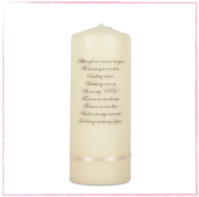 Scroll Remembrance Candle-Remembrance candle memorial candle Wedding Remembrance candle