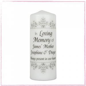 Versailles Border Remembrance Candle-Remembrance candle, memorial candle remembering Ireland Uk shipping worldwide.