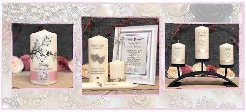 Wedding Unity Christening Remembrance Candles
