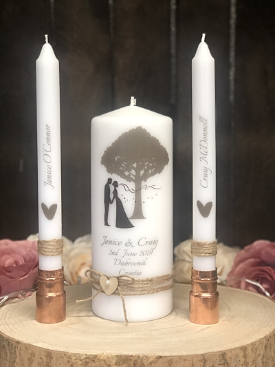 Kissing Bride & Groom Unity Set-
