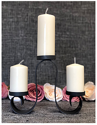 Plain Unity Candles with Stand - Design Two-