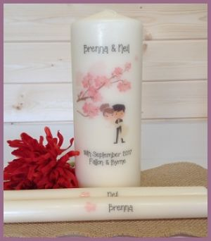 NF - Cherry Blossom Bride & Groom Unity Set-