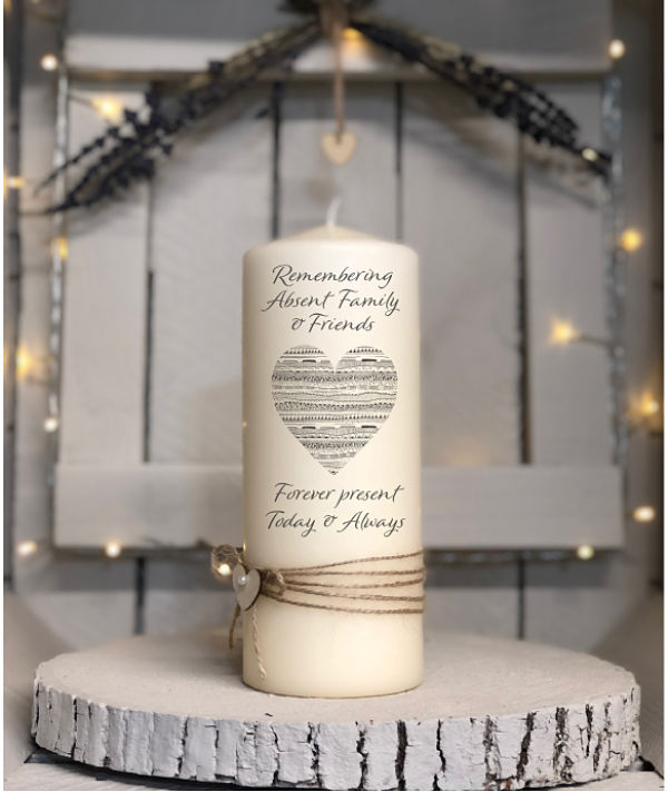 Remembering Absent Family with Love...Remembrance Candle-Remembrance, Memorial, absent family and friends, loved ones Remembering candle