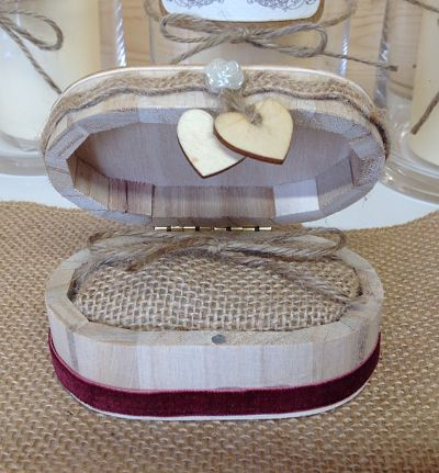 Rustic Ring Box - Design Two - Oval-
