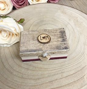 Rustic Ring Box - Design Four - Rectangle-