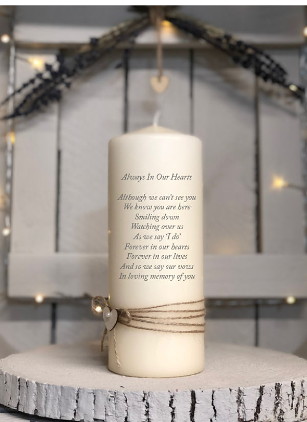 Simple Remembrance Candle Design One-Simple Remembrance, simple memorial candle