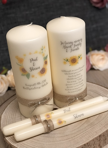 Sunflower Unity Set and Remembrance Candle-