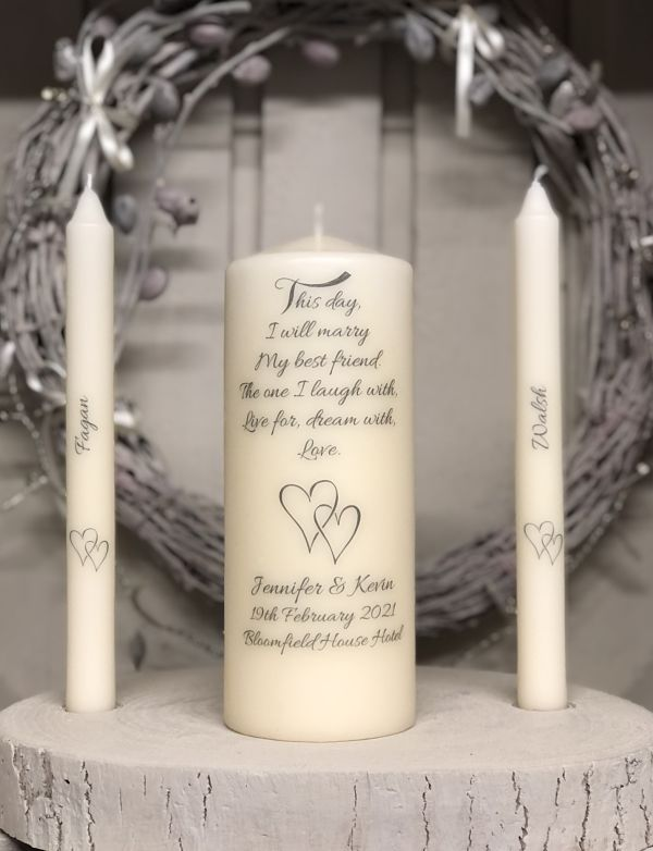 This Day I Will Marry....-Simple wedding candles