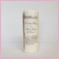 Vintage Border Remembrance Candle - Non Personalised-